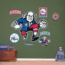 Philadelphia 76ers Ben Franklin Logo Wall Decal Allposters Com