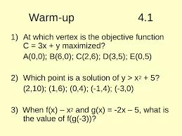 warm up 4 1 powerpoint presentation