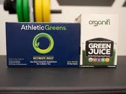 athletic greens vs organifi review