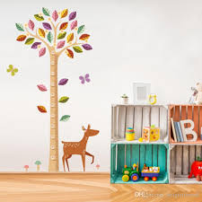 Colorful Large Tree Height Ruler Deer Wall Stickers Height Measurement Kids Room Nursery Wall Mural Poster Art Growth Chart Wallpaper Decal Home Wall Stickers Horse Wall Decals From Magicforwall 4 06 Dhgate Com