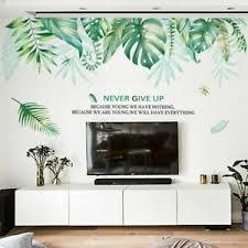 Green Leaf Jungle Decoration Wall Sticker Living Room Bedroom Decor Wall Decal Ebay