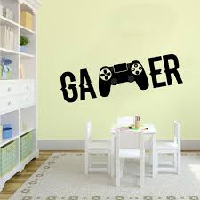 X Box Video Game Controller Wall Decals Ps4 Gamer Diy Wall Decal Gamer Wall Sticker For Kids Bedroom Vinyl Wall Art Mural G931 Wall Stickers Aliexpress
