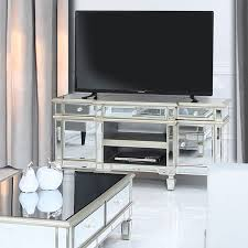 champagne gold mirrored tv stand