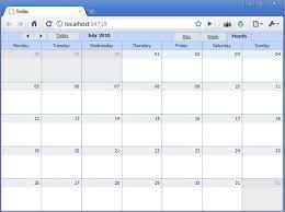 event calendar for an asp net mvc