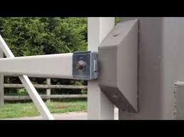 Global Access Faac V90 Automatic Electric Gate Lock Youtube