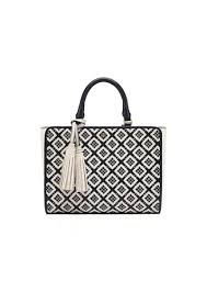 tory burch robinson woven leather small