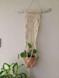 macrame wall hanging planter indoor