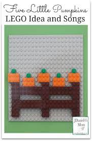 Five Little Pumpkins Lego Idea And Craft