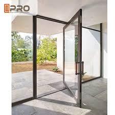 commercial aluminum doors black color