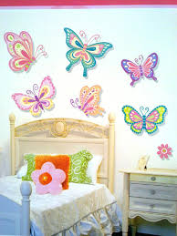 Large Singing Purple Butterfly Wall Stickers Home Decor Art Independence