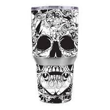 Skin Decal For Ozark Trail 30 Oz Tumbler Crazy Lineart Skull Design 653451627021 Ebay