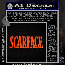 Scarface Title Decal Sticker A1 Decals