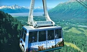 half off aerial tram or downhill biking