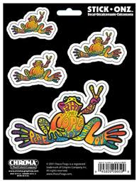 Peace Frog Self Adhesive Decal Chr9959