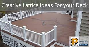 Creative Lattice Ideas For Your Deck