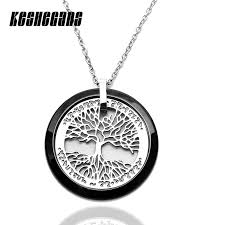 ceramic tree of life pendant necklace