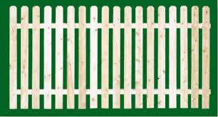 Eastern White Cedar Fence Spaced Picket Wood Fencing