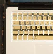 Gold Laptop Keyboard Stickers Keyshorts