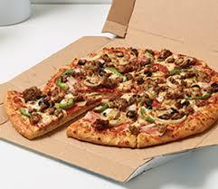 dominos bbq en pizza calories لم