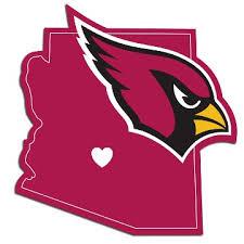 Arizona Cardinals Home State Decal 5 Vinyl Sticker