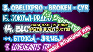 bagi bagi font gratis untuk quotes editor
