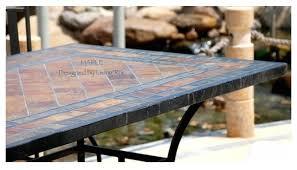 stone garden patio mosaic slate table
