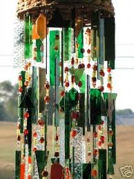rain forest stained glass wind chimes