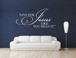 Christian Wall Decal Live For Jesus Code 001 Christian Wall Decals Vinyl Wall Art Quotes Wall Decals For Bedroom