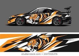Car Wrap Decal Vinyl Sticker Designs Stock Vector Royalty Free 1493708033 In 2020 Vinyl Sticker Design Car Wrap Car Wrap Design
