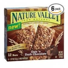 nature valley dark chocolate granola bars