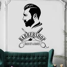 Barbershop Wall Sticker Barber Shop Window Decal Barber S Logo Wall Mural Hair Salon Decor Removable Vinyl Hair Cut Decal Wish