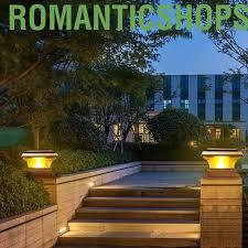 Romanticshopssss Solar Power Fence Post Lights Waterproof Outdoor Garden Landscape Yard Lvjw Shopee Philippines