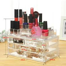 cosmetic makeup organizer clear drawers