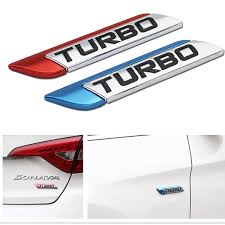 3d Metal Turbo Turbocharged Car Sticker Logo Emblem Badge Decals Car Styling Diy Auto Decal Wish