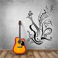 Amazon Com V Studios Music Vinyl Decal Guitar Notes Cool Decal For Room Wall Stickers Vs965 Home Kitchen