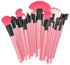 24pcs pink makeup brush set kit