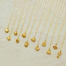 pendant gold bracelet necklace