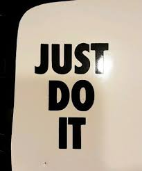 Just Do It Nike Shoes Sports Vinyl Die Cut Car Decal Sticker Free Shipping Ebay
