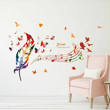 Wall Stickers Musical Notes Wall Decals For Living Room Music Vinyl Diy For Sale Online