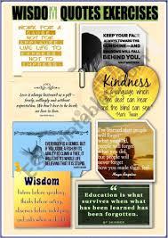 wisdom quotes reading exercises esl worksheet by aisha