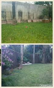 Reed Fence Before And After Just Spray Paint Reed Fence Espresso Brown Espresso Brown Fence Spray Paint