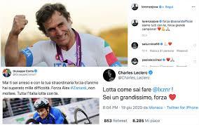 Incidente Alex Zanardi, da Conte a Leclerc incoraggiamenti sui ...