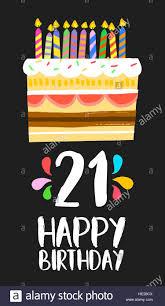 Feliz Cumpleanos Numero 21 Tarjeta De Felicitacion Para Veintiun