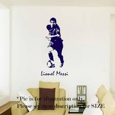 Lionel Messi Barcelona Football Sport Wall Art Wall Stickers Etsy