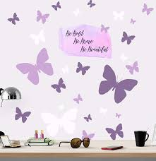 Amazon Com Create A Mural Be Bold Be Brave Be Beautiful Butterfly Girls Wall Decals Wall Art Stickers For Bedroom Peel And Stick Kids Room Decor Nursery Toddler Teen Decorations Playroom Birthday Gift Arts Crafts