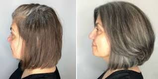 tips for transitioning to gray hair