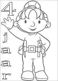 Kids N Fun Kleurplaat Bob De Bouwer Verjaardag Wendy 4 Jaar