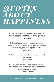 quotes about happiness etta arlene