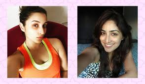 no makeup look selfies from bollywood