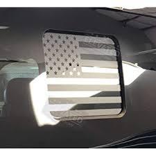 Amazon Com F 150 F 250 Flat Black American Flag Rear Window Accent Decal F150 2015 2020 F250 2017 2020 Automotive